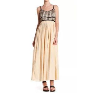 Anthro Moon River gauzy maxi dress Sz S